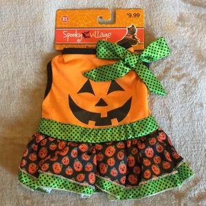 Spooky Village Pumpkin Dress For Dogs